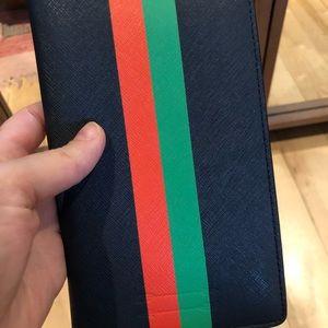 Ben Minkoff passport case navy colorway